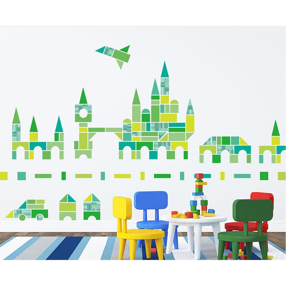 東京ステッカー ウォールステッカー 転写式 積み木遊び グリーン Lサイズ TS-0029-EL【送料無料】