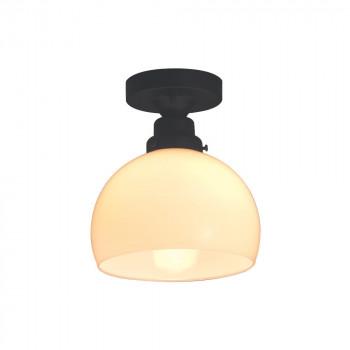 シーリングライト 鉄鉢硝子セード・CL型BK (60Wホワイトシリカ球付) GLF-3258【送料無料】