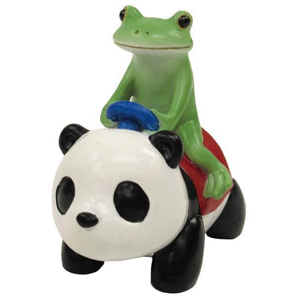 かわいらしいカエルの置物 お得セット Copeau コポー 71059 送料無料 開催中 パンダの乗り物にのるコポタロウ