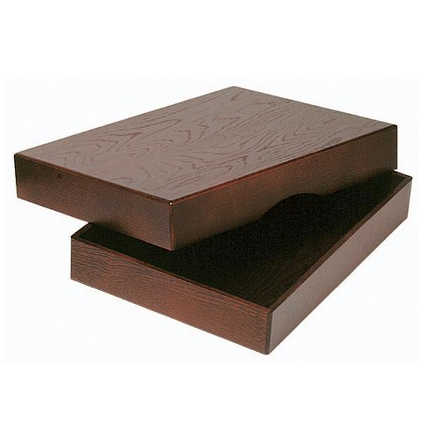 NEW ARRIVAL 木目が美しく インテリアにも溶け込みます 爆買いセール コレクト 決裁箱 送料無料 B4判用 ローズ塗 T-26