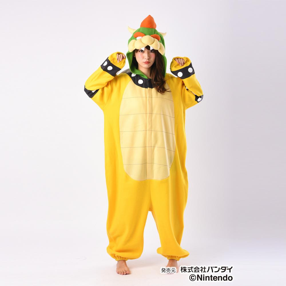 パジャマ コスプレ 大人用サザック フリース着ぐるみ スーパーマリオ クッパ フリーサイズ BAN-068【送料無料】