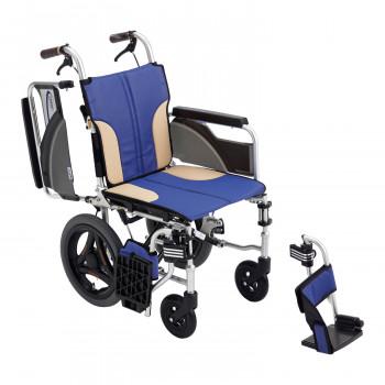 スキット 車いす ミキ/MiKi SKT-200【送料無料】 軽量 折りたたみ ブルー