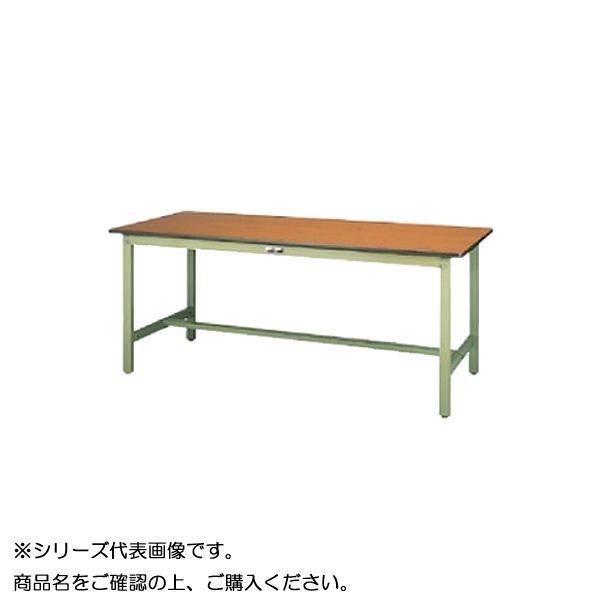 SWP-1575-MG+D1-G ワークテーブル 300シリーズ 固定(H740mm)(1段(深型W500mm)キャビネット付き)【送料無料】