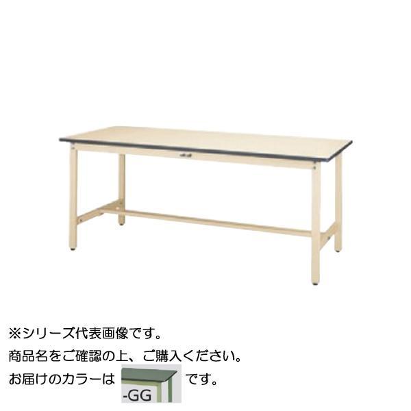 SWR-1875-GG+D1-G ワークテーブル 300シリーズ 固定(H740mm)(1段(深型W500mm)キャビネット付き)【送料無料】