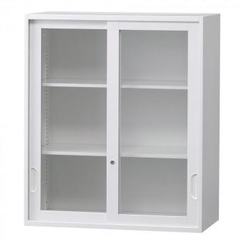 豊國工業 壁面収納庫深型引違いガラス扉 ホワイト HOS-HKGN BN-90色(ホワイト)【送料無料】