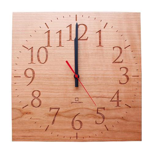 彫刻を施された文字盤が高級感を演出 ヤマト工芸 MUKU -スタンダード数字- チェリー 激安通販 NEW ARRIVAL 送料無料 YK14-101
