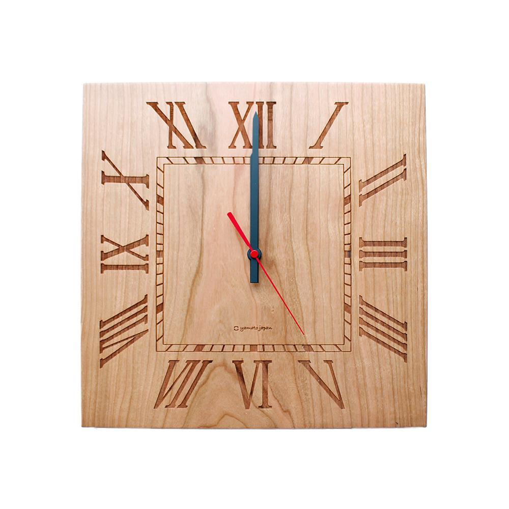 往復送料無料 無垢の素材の良さをそのままに ヤマト工芸 MUKU-ローマ数字- 送料無料 NEW ARRIVAL YK14-101 チェリー