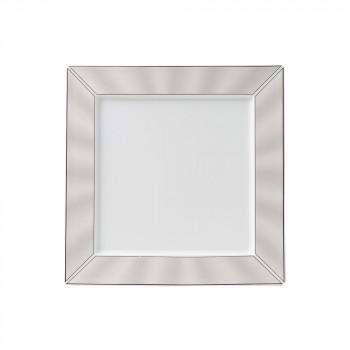 上質な質感の絵柄のフラットスクエアプレート NIKKO ニッコー 送料0円 激安 激安特価 送料無料 30cmフラットスクエアプレート PLATINUM 送料無料 11733-4538H SILK