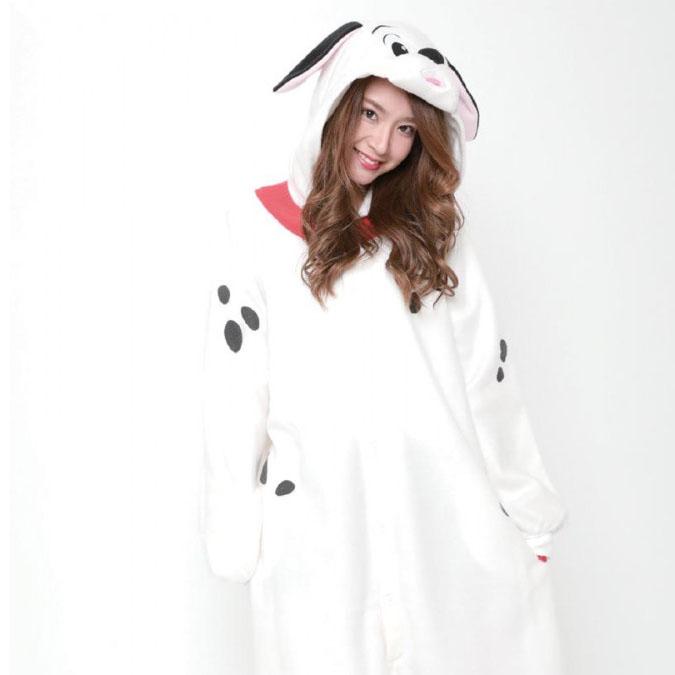 パジャマ かわいい 犬サザック フリース着ぐるみ 101匹ワンちゃん ラッキー フリーサイズ RBJ-127【送料無料】