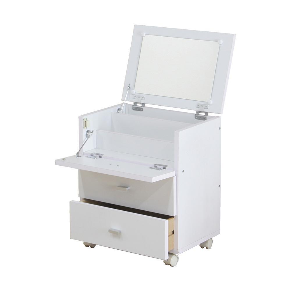 整理 収納 化粧台フィーゴドレッサー ホワイト 81893【送料無料】