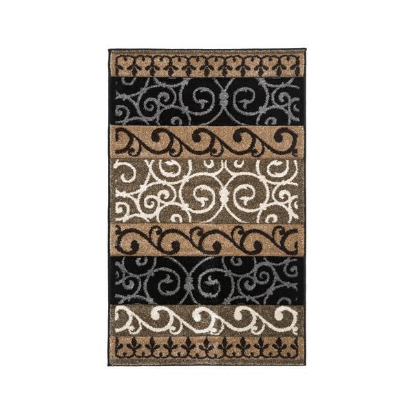 おしゃれ 敷物 絨毯ユナイテッド・ウィーバーズ・オブ・アメリカ ターナーブラック ラグ ハースラグ 127×79cm UW00370H【送料無料】