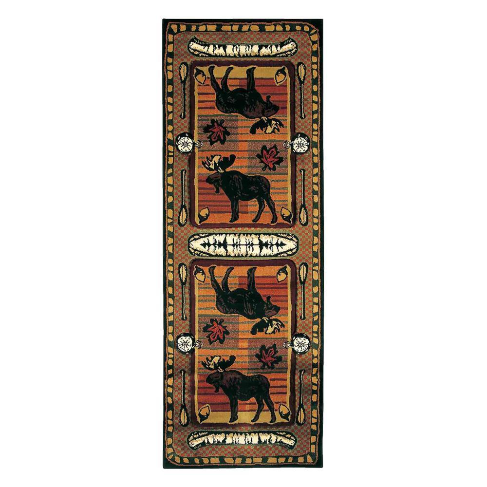 インテリア 敷物 絨毯ユナイテッド・ウィーバーズ・オブ・アメリカ ウィルダネスストリーム ラグ ランナー 225×80cm UW25729N【送料無料】