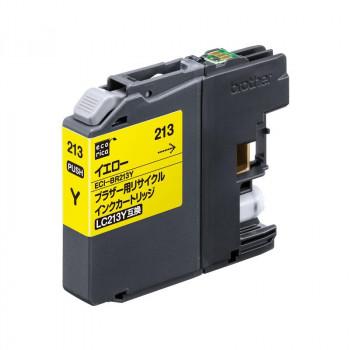 写真やはがき印刷にも 格安 価格でご提供いたします 新登場 エコリカECI-BR213Yリサイクルインクイエロー9858841 送料無料