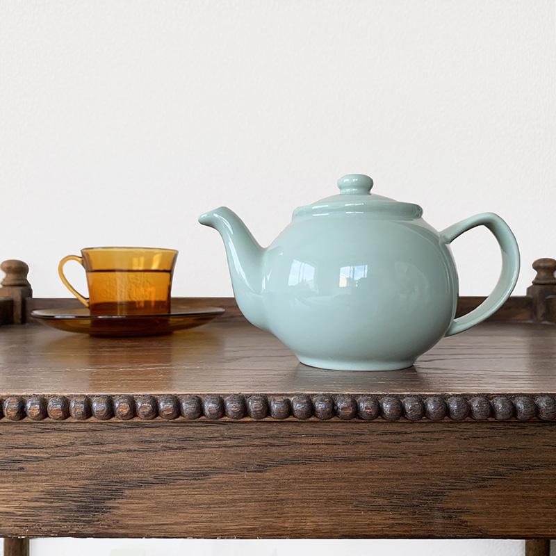 茶漉し入らず ストレーナー付の丸みが可愛いティーポット ティーポット 日本 2カップ 450ml ミント ステンレスストレーナー付 陶器 予約 PriceKensington イギリス Teapot プライスアンドケンジントン