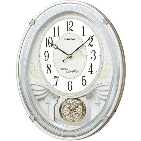 セイコークロック SEIKO からくり時計 掛け時計 電波時計 壁掛け・メロディ セイコー掛け時計 セイコーからくり時計 セイコー電波時計 AM258W ウエーブシンフォニー おしゃれ 【送料無料】 【10P01Oct16】