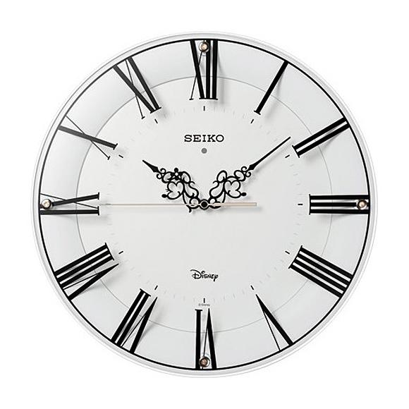 【 送料無料 】SEIKO(セイコー) キャラクター時計 掛け時計 電波時計 アナログ キャラクター時計 ディズニー ミッキー&ミニー FS506W