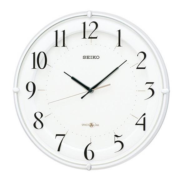 【 送料無料 】SEIKO(セイコー) 掛け時計 衛星電波時計 アナログ スペースリンク GP216W