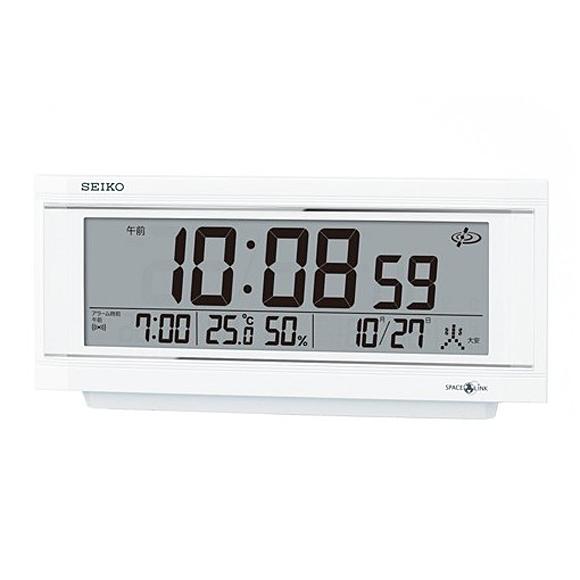 【 送料無料 】SEIKO(セイコー) 置き時計 衛星電波時計 アナログ スペースリンク GP501W