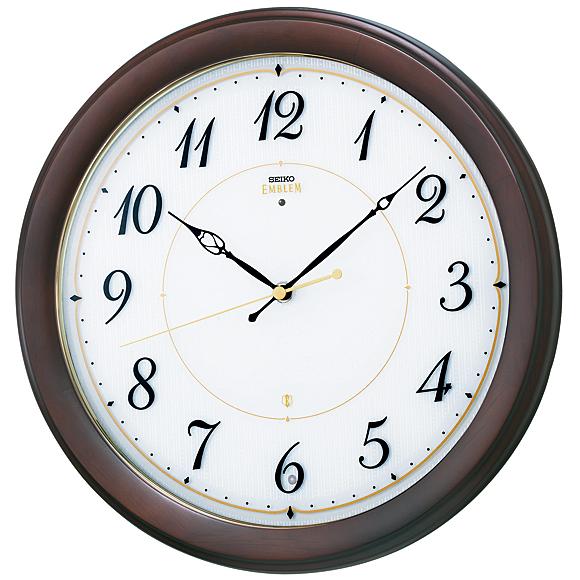 【 送料無料 】SEIKO(セイコー)EMBLEM 掛け時計 スタンダード 電波時計 (HS547B)