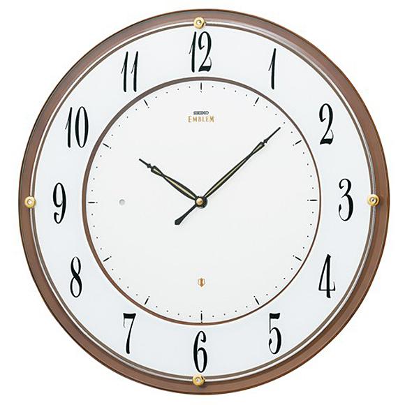 【 送料無料 】SEIKO(セイコー) EMBLEM 掛け時計 電波時計 アナログ スタンダード HS548B