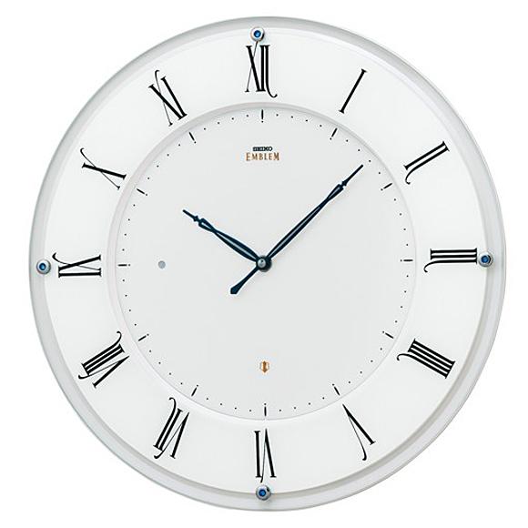 【 送料無料 】SEIKO(セイコー) EMBLEM 掛け時計 電波時計 アナログ スタンダード HS548W