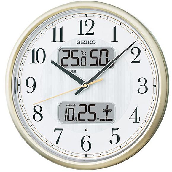 【 送料無料 】SEIKO(セイコー) 掛け時計 電波時計 アナログ 夜でも見える KX384S