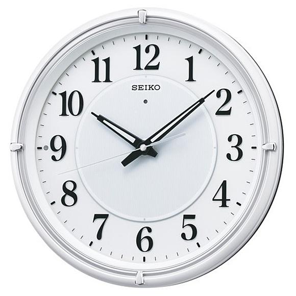 【 送料無料 】SEIKO(セイコー) 掛け時計 電波時計 アナログ 夜でも見える KX393W