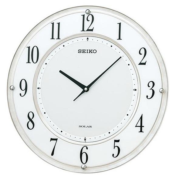 SEIKO(セイコー) 掛け時計 電波時計 アナログ 薄型ソーラープラス SF506W