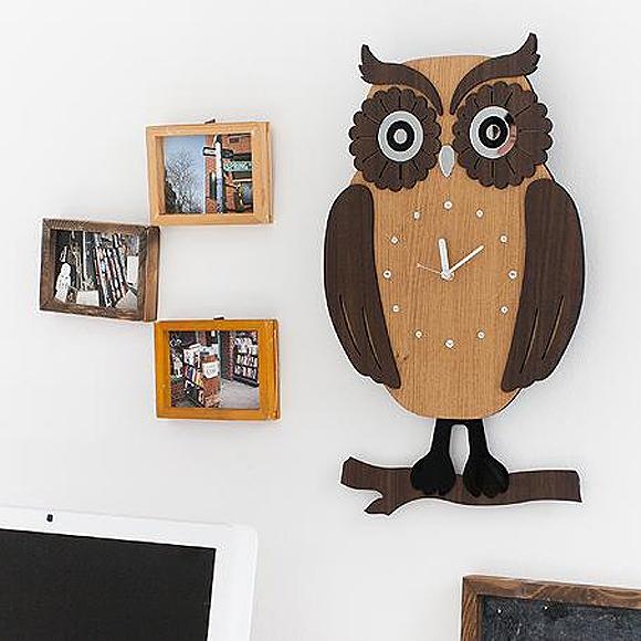掛け 掛時計 時計 木製 木 振り子 大型 楽しい 人気 リビング ロビー 店舗 イラスト 医院 待合室 ギフト 新築祝い 転居祝い 引越し 開店祝い ドリームクロック「SWING OWL」 (TO-owl)【10P01Oct16】