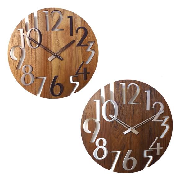 掛け時計 ジョージ・ネルソン ミラークロック 3D 壁掛け時計 「ナンバークロック」 GN215 (KC-GN215)