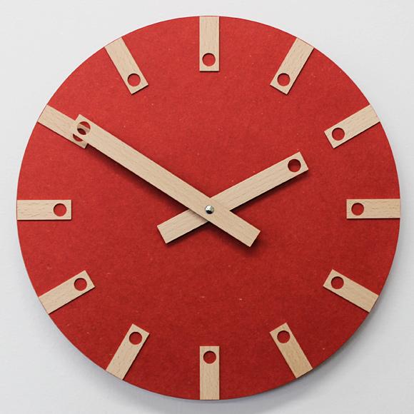 ポイントアップ中 開催中 割引クーポン配布中 インハウス ファクトリーアウトレット INHOUSE 木製掛け時計 LOLLY 英国製 30cm KC-W25
