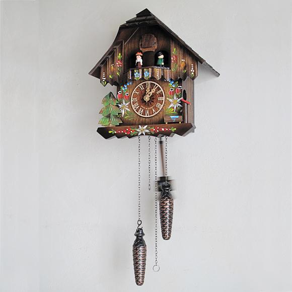 【ポイントアップ中&割引クーポン配布中】掛け時計 からくり 森の時計 木製からくり鳩時計 ハト時計 カッコー時計 430-6QMT (MD-430-6QMT)