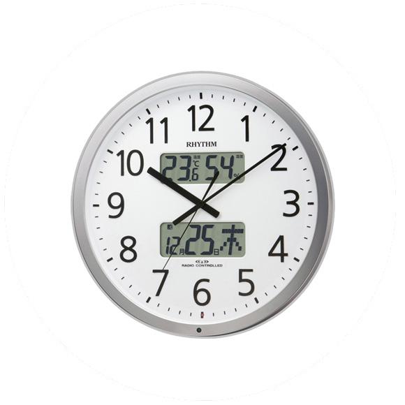 シチズン CITIZEN 掛け時計 アナログ 温湿度計 プログラムカレンダー403R (4FN403SR19) 特価25%OFF
