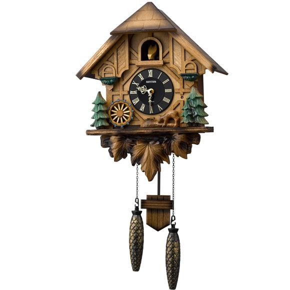 【エントリーで★最大ポイント10倍!】 シチズン CITIZEN 掛け時計 アナログ 鳩時計 振り子時計 カッコーティンバー (4MJ423SR06) 特価25%OFF