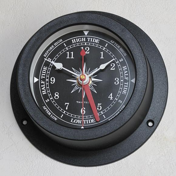 掛け時計 船舶時計 アナログ タイム&タイド ブラック (SL-92-611-0194)