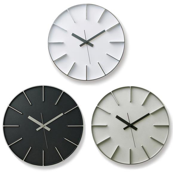 Lemnos レムノス 掛け時計 アナログ スイープムーブメント 「エッジクロック」 (AZ0116)