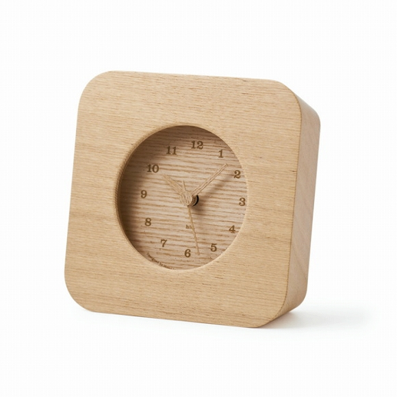 Lemnos レムノス 置き時計 アナログ 電波時計 スイープムーブメント 「ケーク」 (HIL10-18)