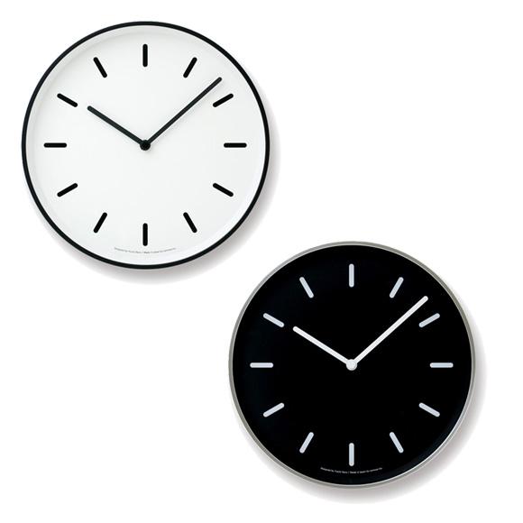 Lemnos レムノス 掛け時計 アルミ モノ ステップムーブメント (LC10-20B)
