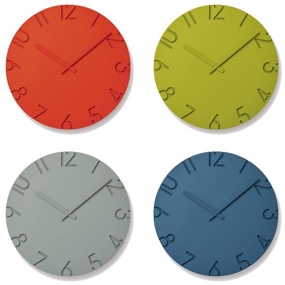 新作続 ポイントアップ中 割引クーポン配布中 NTL16-07 Lemnos ランキング総合1位 レムノス 掛け時計 ブルーBL グリーンGN次回12月末入荷予定 カーヴド カラードM アナログ