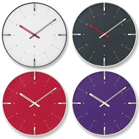 ポイントアップ中 割引クーポン配布中 Lemnos レムノス 掛け時計 アナログ レッド完売 NTL13-09 出荷 電波時計 クリップ 日本正規品