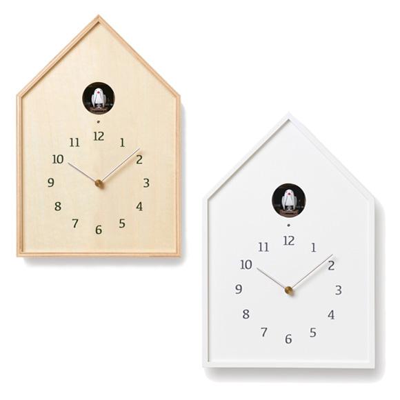 Lemnos レムノス からくり時計 アナログ 鳩時計 バードハウスクロック (TL-NY16-12)