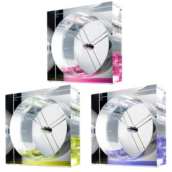 Lemnos レムノス 置き時計 アナログ スイープムーブメント 「イリス」 (SSL14-09)