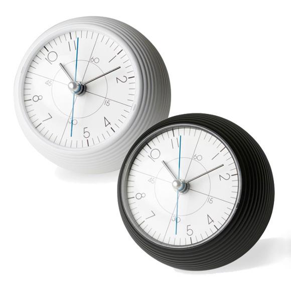 Lemnos レムノス 置き時計 アナログ スイープムーブメント 「アースクロック」 (TIL16-11)