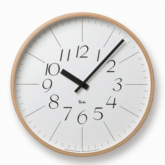 Lemnos レムノス 掛け時計 RIKI 渡辺力 ステップムーブメント (WR-0312L)