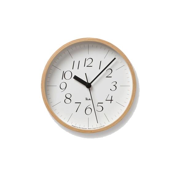 Lemnos レムノス 電波時計 掛け時計 RIKI 渡辺力 ステップムーブメント (WR-08-26)