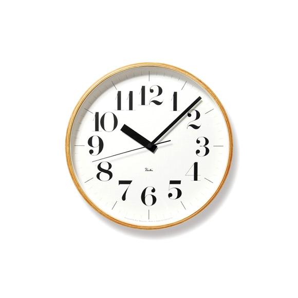 Lemnos レムノス 電波掛け時計 渡辺力 RIKI ステップムーブメント (WR-08-27)
