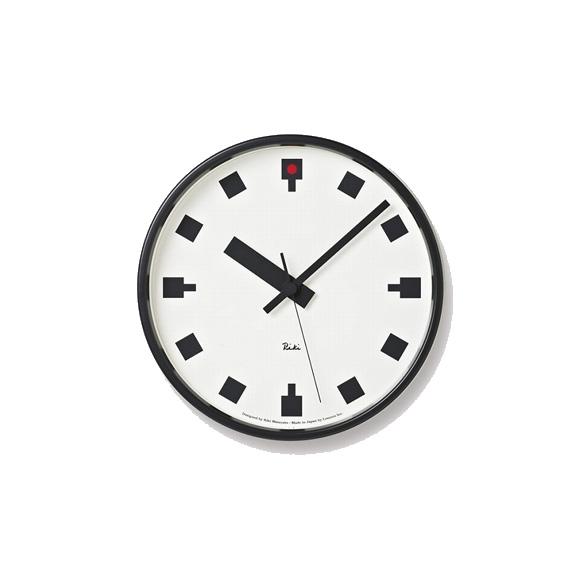 Lemnos レムノス 掛け時計 アナログ 日比谷の時計 スイープムーブメント 渡辺力 RIKI (WR12-04)