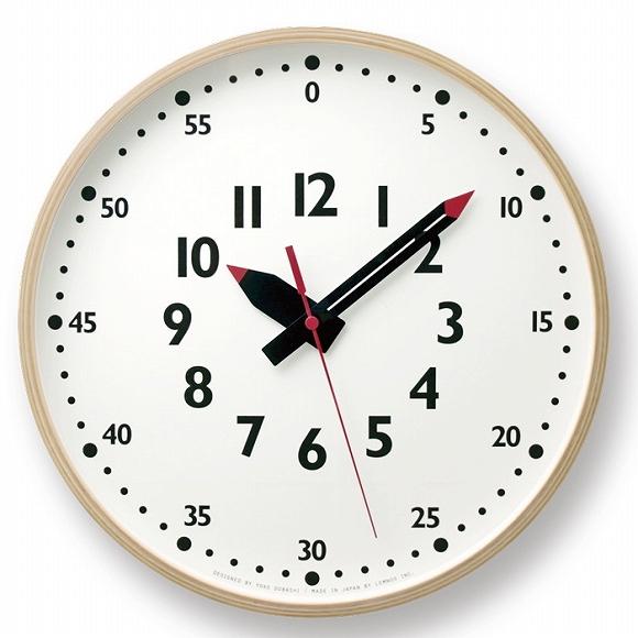 【ポイントアップ中&割引クーポン配布中】Lemnos レムノス 掛け時計 アナログ ステップムーブメント 「ふんぷんくろっく L」 (YD14-08L)*次回2月下旬入荷予定