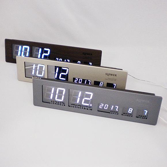 掛け時計 電波時計 LED メタルクロック 掛け置き兼用「Ascari」 (TR-ASCARI)