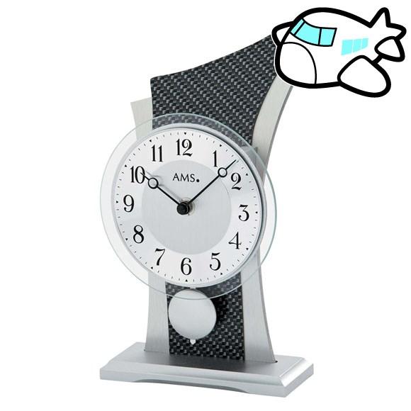 AMS 置き時計 振り子時計 置時計 カーボン ドイツ製 AMS1140 納期1ヶ月程度 (YM-AMS1140)